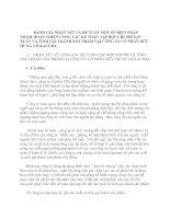 ĐÁNH GIÁ NHẬN XÉT VÀ ĐỀ XUẤT MỘT SỐ BIỆN PHÁP NHẰM HOÀN THIỆN CÔNG TÁC KẾ TOÁN TẬP HỢP CHI PHÍ SẢN XUẤT VÀ TÍNH GIÁ THÀNH SẢN PHẨM TẠI CÔNG TY CỔ PHẦN HỮU HƯNG VIGLACERA