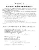 Bài giảng số 18: Phương trình lượng giác