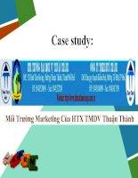 Môi trường marketing của HTX TMDV thuận thành
