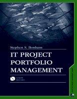 IT Project Portfolio Management