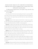 ĐÁNH GIÁ THỰC TRẠNG VÀ CÁC Ý KIẾN ĐỀ XUẤT NHẰM HOÀN THIỆN KẾ TOÁN TÀI SẢN CỐ ĐỊNH Ở CÔNG TY KHAI THÁC CÔNG TRÌNH THUỶ LỢI HÒA BINH