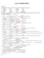 Tài liệu 12 CB UNIT 12 TEST 4