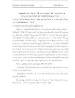 KHÁI QUÁT CHUNG VỀ HOẠT ĐỘNG SẢN XUẤT KINH DOANH TẠI CÔNG TY TNHH PHILKO- VINA