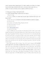 THỰC TRẠNG HOẠT ĐỘNG ĐẦU TƯ PHÁT TRIỂN TẠI CÔNG TY TNHH NHÀ NƯỚC MỘT THÀNH VIÊN XÂY LẮP HOÁ CHẤT