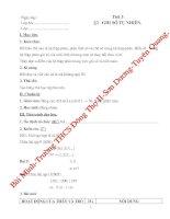Bài soạn Giáo án Toán 6(HKI)