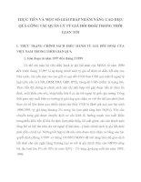 THỰC TIỄN VÀ MỘT SỐ GIẢI PHÁP NHẰM NÂNG CAO HIỆU QUẢ CÔNG TÁC QUẢN LÝ TỶ GIÁ HỐI ĐOÁI TRONG THỜI GIAN TỚI