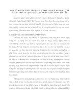 MỘT SỐ NHỮNG KIẾN NGHỊ NHẰM HOÀN THIỆN NGHIỆP VỤ KẾ TOÁN CHO VAY TẠI CHI NHÁNH NGÂN HÀNG ĐTPT  HÀ TÂY