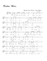 Bài hát bướm hoa - Nguyễn Văn Thương & Kim Minh (lời bài hát có nốt)