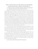 THỰC TRẠNG CHO VAY TIÊU DÙNG TẠI CHI NHÁNH NGÂN HÀNG CÔNG THƯƠNG THANH XUÂN