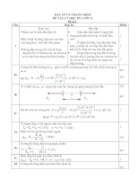 Bài giảng Đáp án và thang điểm Vật Lý 11
