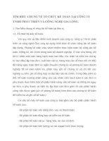 TÌM HIỂU CHUNG VỀ TỔ CHỨC KẾ TOÁN TẠI CÔNG TY TNHH PHÁT TRIỂN VÀ CÔNG NGHỆ GIA LONG