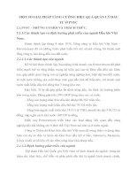 MỘT SỐ GIẢI PHÁP TĂNG CƯỜNG HIỆU QUẢ QUẢN LÝ ĐẦU TƯ Ở PVFC