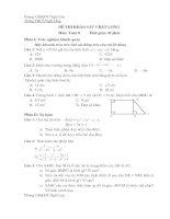 Tài liệu Đề khảo sát chất lượng toán 8