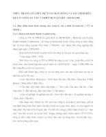 THỰC TRẠNG TỔ CHỨC KẾ TOÁN BÁN HÀNG VÀ XÁC ĐỊNH KẾT QUẢ Ở CÔNG TY VẬT TƯ THIẾT BỊ TOÀN BỘ - METEXIM