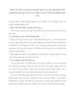 THỰC TẾ CÔNG TÁC KẾ TOÁN BÁN HÀNG VÀ XÁC ĐỊNH KẾT QUẢ KINH DOANH TẠI CÔNG TY CỔ PHẦN VẬT TƯ NÔNG NGHIỆP PHÁP VÂN
