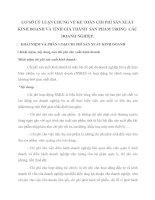 CƠ SỞ LÝ LUẬN CHUNG VỀ KẾ TOÁN CHI PHÍ SẢN XUẤT KINH DOANH VÀ TÍNH GIÁ THÀNH  SẢN PHẨM TRONG  CÁC DOANH NGHIỆP