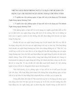 NHỮNG GIẢI PHÁP PHÒNG NGỪA VÀ HẠN CHẾ RỦI RO TÍN DỤNG TẠI CHI NHÁNH NGÂN HÀNG NGOẠI THƯƠNG VINH