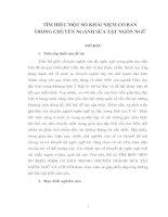 TÌM HIỂU MỘT SỐ KHÁI NIỆM CƠ BẢN TRONG CHUYÊN NGÀNH SỬA TẬT NGÔN NGỮ