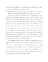 PHƯƠNG HƯỚNG VÀ CÁC GIẢI PHÁP HOÀN THIỆN NHỮNG VẤN ĐỀ TỒN TẠI TRONG CÔNG TY CƠ KHÍ Ô TÔ 3