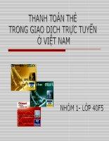 [Slide thuyết Trình]THANH TOÁN THẺ  TRONG GIAO DỊCH TRỰC TUYẾN ở VIỆT NAM