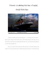 Titanic và những bài học về nghệ thuật lãnh đạo