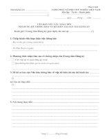 Mẫu 02-KB: Văn bản yêu cầu thay đổi nội dung đã thông báo về kê biên tài sản thi hành án