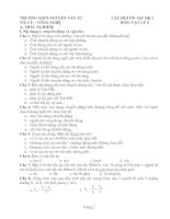 Bài giảng Mot so cau hoi Vat Ly 8