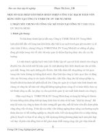 MỘT SỐ GIẢI PHÁP GÓP PHẦN HOÀN THIỆN CÔNG TÁC HẠCH TOÁN VỐN BẰNG TIỀN TẠI CÔNG TY TNHH TM  DV TRUNG MINH