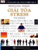 Giải tỏa Stress - Cẩm nang quản lý hiệu quả