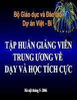 Bài giảng Phuong phap day hoc tich cuc