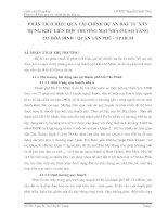 PHÂN TÍCH HIỆU QUẢ TÀI CHÍNH DỰ ÁN ĐẦU TƯ XÂY DỰNG KHU LIÊN HỢP THƯƠNG MẠI NHÀ Ở CAO TẦNG