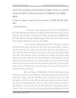 MỘT SỐ GIẢI PHÁP GÓP PHẦN HOÀN THIỆN CÔNG TÁC HẠCH TOÁN VỐN BẰNG TIỀN TẠI CÔNG TY TNHH TM & PT THIỀU HIỀN