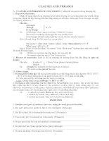 Bài soạn CLAUSES & PHRASES