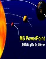 Bài giảng hướng dẫn sử dung powerpoint