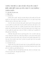 NHỮNG VẤN ĐỀ LÝ LUẬN CƠ BẢN VỀ QUYỀN CHỌN VÀ ĐIỀU KIỆN ĐỂ ÁP DỤNG QUYỀN CHỌN VÀO THỊ TRƯỜNG CHỨNG KHOÁN
