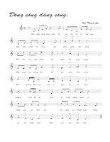 Bài hát dòng sông dâng sóng - Vũ Thành An (lời bài hát có nốt)