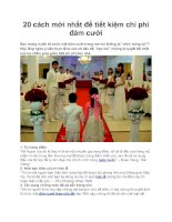 20 cách mới nhất để tiết kiệm chi phí đám cưới
