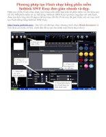 Gián án Phương pháp tạo Flash nhạc bằng phần mềm  Sothink SWF Easy đơn giản nhanh và đẹp.