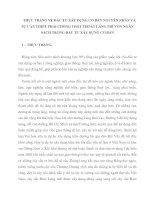 THỰC TRẠNG VỀ ĐẦU TƯ XÂY DỰNG CƠ BẢN NGUYÊN NHÂN VÀ SỰ CẦN THIẾT PHẢI CHỐNG THẤT THOÁT LÃNG PHÍ VỐN NGÂN SÁCH TRONG ĐẦU TƯ XÂY DỰNG CƠ BẢN