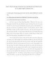 THỰC TRẠNG RỦI RO TÍN DỤNG TẠI CHI NHÁNH NGÂN HÀNG ĐẦU TƯ VÀ PHÁT TRIỂN TỈNH HÀ TÂY