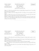 Bài giảng Đề và đáp án Sinh 7 HKI 2010-2011