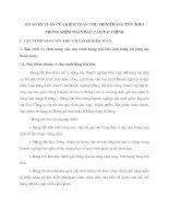 CƠ SỞ LÝ LUẬN CỦA KIỂM TOÁN CHU TRÌNH HÀNG TỒN  KHO TRONG KIỂM TOÁN BÁO CÁO TÀI CHÍNH