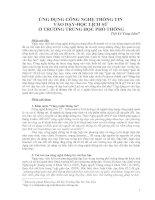 Gián án Ứng dụng Công nghệ thông tin vào dạy học Lịch sử