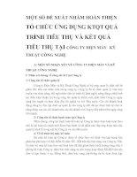MỘT SỐ ĐỀ XUẤT NHẰM HOÀN THIỆN TỔ CHỨC ỨNG DỤNG KTQT QUÁ TRÌNH TIÊU THỤ VÀ KẾT QUẢ TIÊU THỤ TẠI CÔNG TY ĐIỆN MÁY   KỸ THUẬT CÔNG NGHỆ