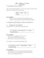 Bài soạn GRAMMAR NOTE UNIT 3