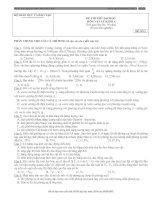 Bài giảng TUYỂN ĐỀ THI ĐH LÝ KHỐI  A -ĐỀ SỐ  6 (Có ĐA)
