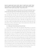 HOÀN THIỆN KẾ TOÁN TIÊU THỤ VÀ KẾT QUẢ TIÊU THỤ TẠI CÔNG TY TRÁCH NHIỆM HỮU HẠN NHÀ NƯỚC MỘT THÀNH VIÊN KIM LOẠI MÀU THÁI NGUYÊN