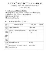 Tài liệu LỊCH CÔNG TÁC TUẦN 2-HK II