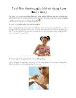 5 sai lầm thường gặp khi sử dụng kem chống nắng