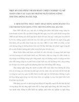 MỘT SỐ GIẢI PHÁP NHẰM HOÀN THIỆN NGHIỆP VỤ KẾ TOÁN CHO VAY TẠI CHI NHÁNH NGÂN HÀNG CÔNG THƯƠNG ĐỐNG ĐA HÀ NỘI
